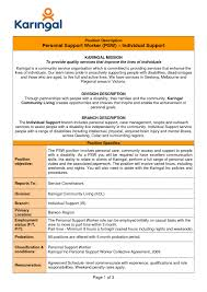 sample personal support worker cover letter example of cover