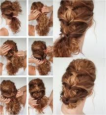 Frisuren Lange Haare Locken Zum Nachmachen by Interessante Frisur Für Lockiges Haar Mit Pferdeschwanz Oder Dutt