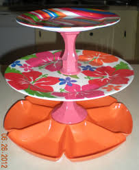 Dollar General Home Decor Serving Stand 4 75 Candle Holders From Dollar Tree Plates From