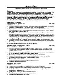 sample resume for executive assistant to president