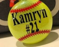 softball ornament etsy