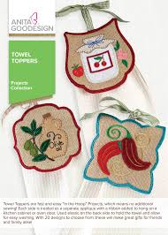 Kitchen Embroidery Designs Towel Toppers Anita Goodesign