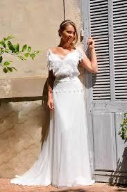 robe mariã e fluide robe de mariée bohème chic en dentelle jupe fluide