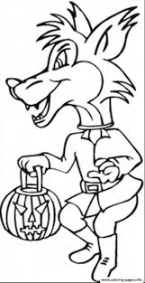 costume halloween wolf coloring pages printable
