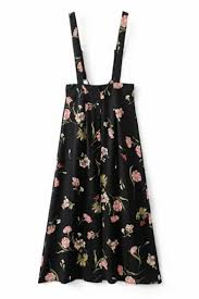 floral printed zip back buttons design a line midi overall dress