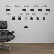 wall stickers space wall stickers space space invader wall stickers space invaders wall stickers by the binary box