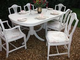 breathtaking white shabby chic dining table and chairs 26 in