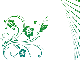 butterfly scroll powerpoint design ppt backgrounds flowers