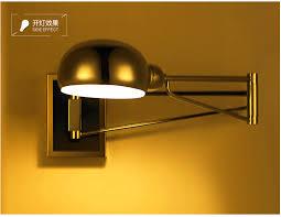 chrome modern swing arm wall lamp flexible mirror bedside bathroom