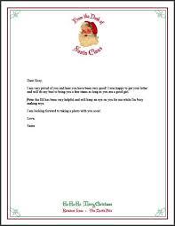 santa letter format sample letter template