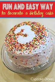 fun easy decorate birthday cake cake birthday