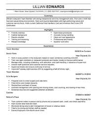 How To Make A Resume For Restaurant Job by Best Restaurant U0026 Bar Team Member Resume Example Livecareer