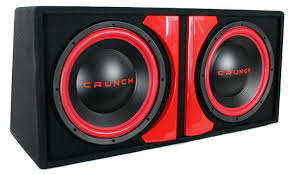 best home theater subwoofer under 1000 amazon com crunch cr212a cr 212a powered dual 12