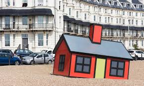 review folkestone triennial u2013 beached bungalows and giant jelly