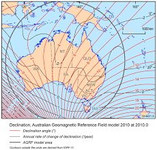 magnetic declination map smiths in australia magnetic declination maps