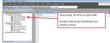 vba code to unlock a locked excel sheet 4 steps