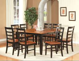 Cherry Dining Room Tables 7 Pc Square Dinette Dining Room Set Table With 6 Wood Seat Chairs
