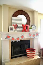awesome fireplace valentine deco contain endearing red tone