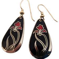 laurel burch earrings laurel burch earrings iris from girlstuffantiques on ruby