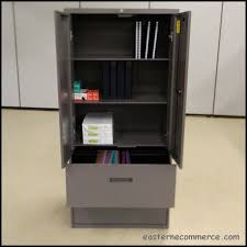 Lateral File With Storage Cabinet Used Steelcase Office Storage Cabinet With Lateral File