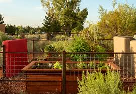 vegetable garden fence ideas landscape eclectic with enclosed