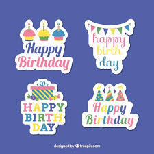 birthday stickers birthday stickers vector free