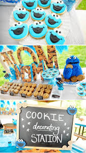 cookie monster table decorations kara s party ideas chic blue diy cookie monster birthday party