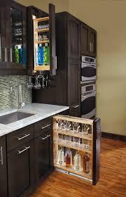 Kitchen Cabinet Spice Rack Slide Rev A Shelf Filler Pullout Organizer With Wood Adjustable