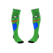 Meme Socks - pepe frog meme socks christmas socks funny tube socks meme