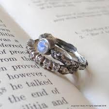 Moonstone Wedding Ring by Sale Bridal Set One Of A Kind Rainbow Moonstone Branch Wedding