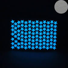 Cheap Home Decor From China Blue Light Luminous Stars Wall Stickers Home Decor Glowing In Dark