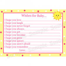 wishes for baby cards artfire markets