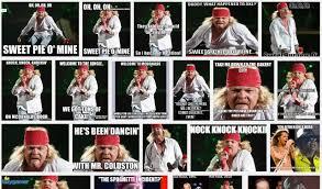 Axl Rose Meme - axl rose wants google to remove fat axl meme stereogum
