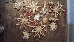 austrian ornaments straw snowflakes on
