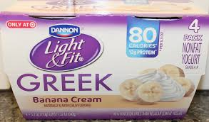 dannon light and fit greek dannon light fit banana cream review youtube
