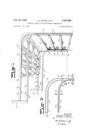 Miller Overhead Door by Patent Us3021896 Overhead Garage Door And Screen Combination