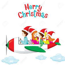 travel merry images Family happy on airplane merry christmas xmas vacations jpg