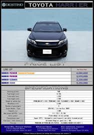 toyota harrier lexus nx toyota harrier destino u0027s export new car