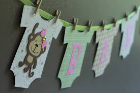 monkey baby shower banner by calladoo on etsy 16 00 crafted