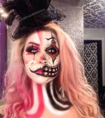 half face face paint halloween makeup skull vs butterfly by