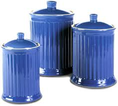 Kitchen Canisters Blue by Amazon Com Omni Simsbury Canisters Set Of 3 Home U0026 Kitchen