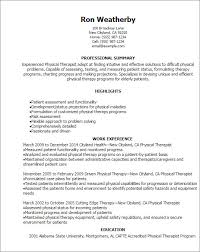 physical therapist resume exle physical therapist resume sles visualcv database template