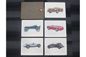 porsche dealership sold book porsche dealership print gift set book auctions lot