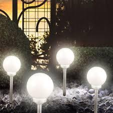 solar globe lights garden 4 piece large solar globe lights woohoodeal daily deals
