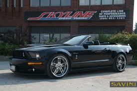 Black Mustang Gt500 Mustang Savini Wheels