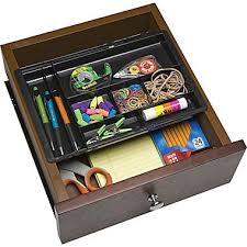 Desk Drawer Organizer â Drawer Doubler Black 2dxk Staplesâ Greenvirals Style