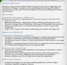 Example Student Resumes by Surprising Inspiration Student Resume Examples 14 Internship