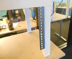 build adjustable table legs adjustable standing desk attachment home design ideas standing