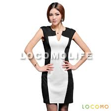 black white v neck slim sleeveless bodycon dress m ffd075m
