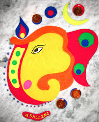 beautiful lord ganesh rangoli designs for easy and simple to make